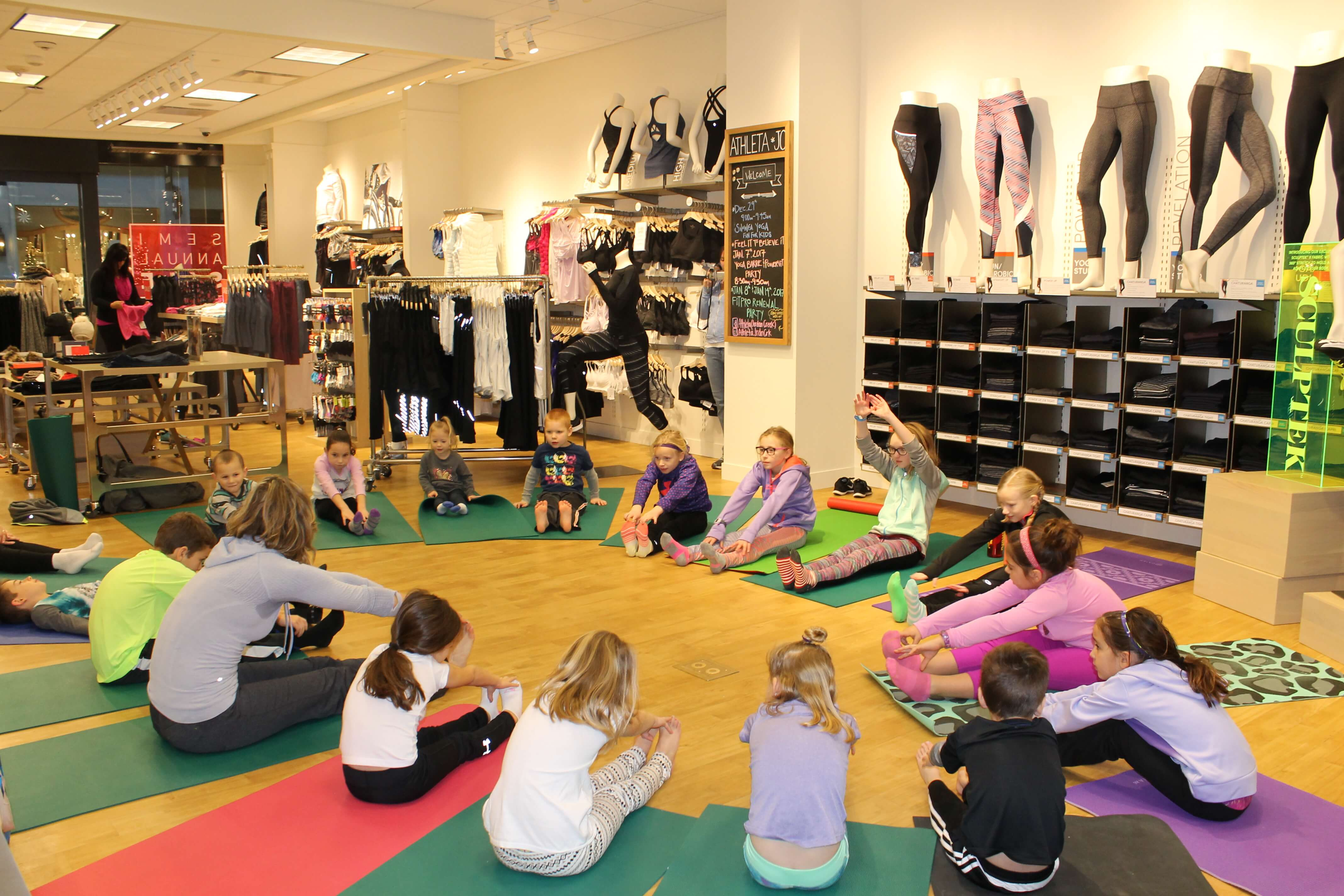 Here is a peek at our fun kids winter yoga sequence at Athletaover winter break. Sun salutations and partner poses in this class