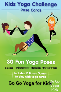 Theseyoga cards for kids includes 30 poses including partner poses, confidence building pose mantras and fun games to play together.