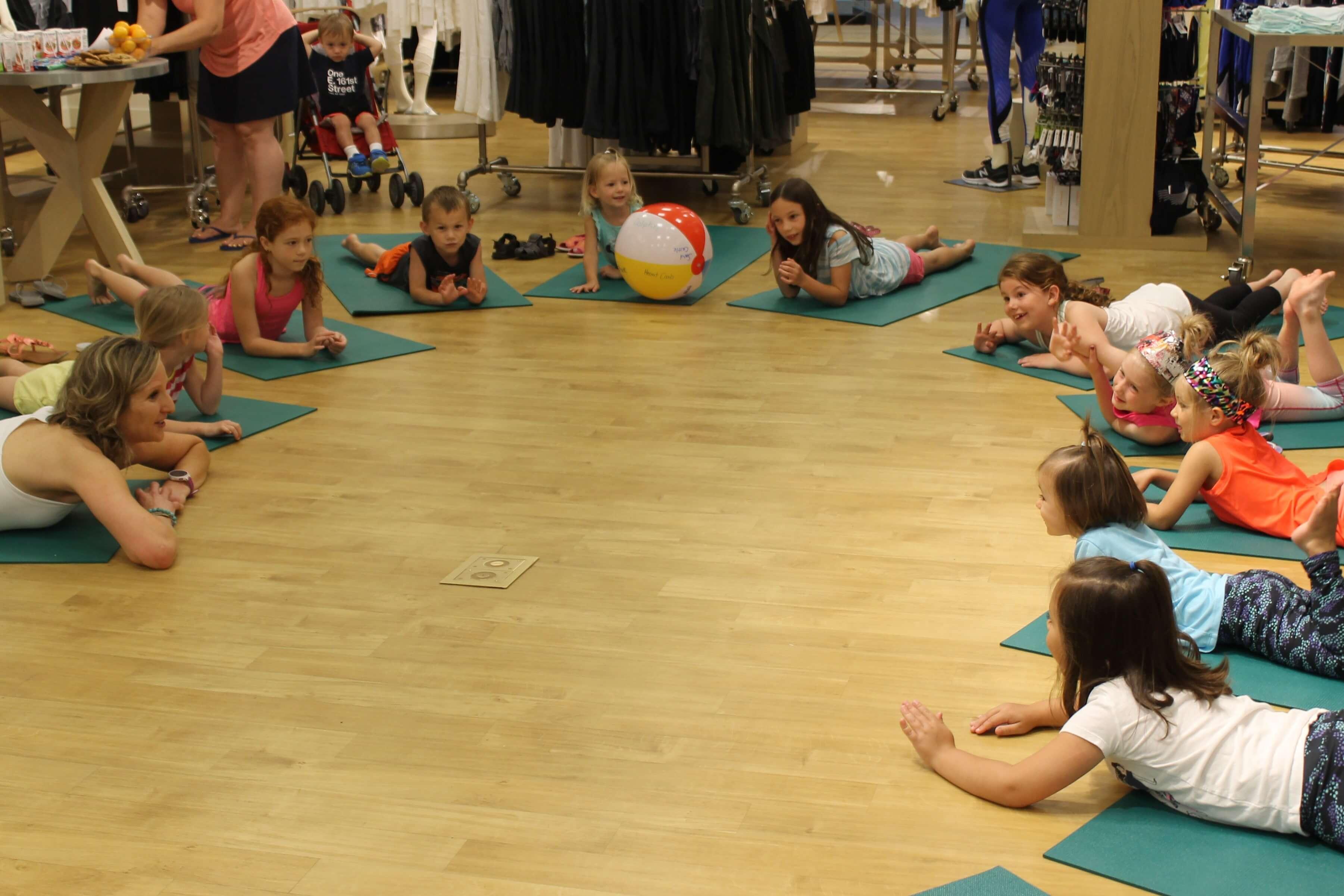 Fun in the Sun Kids Yoga Class at Athleta - Go Go Yoga For ...