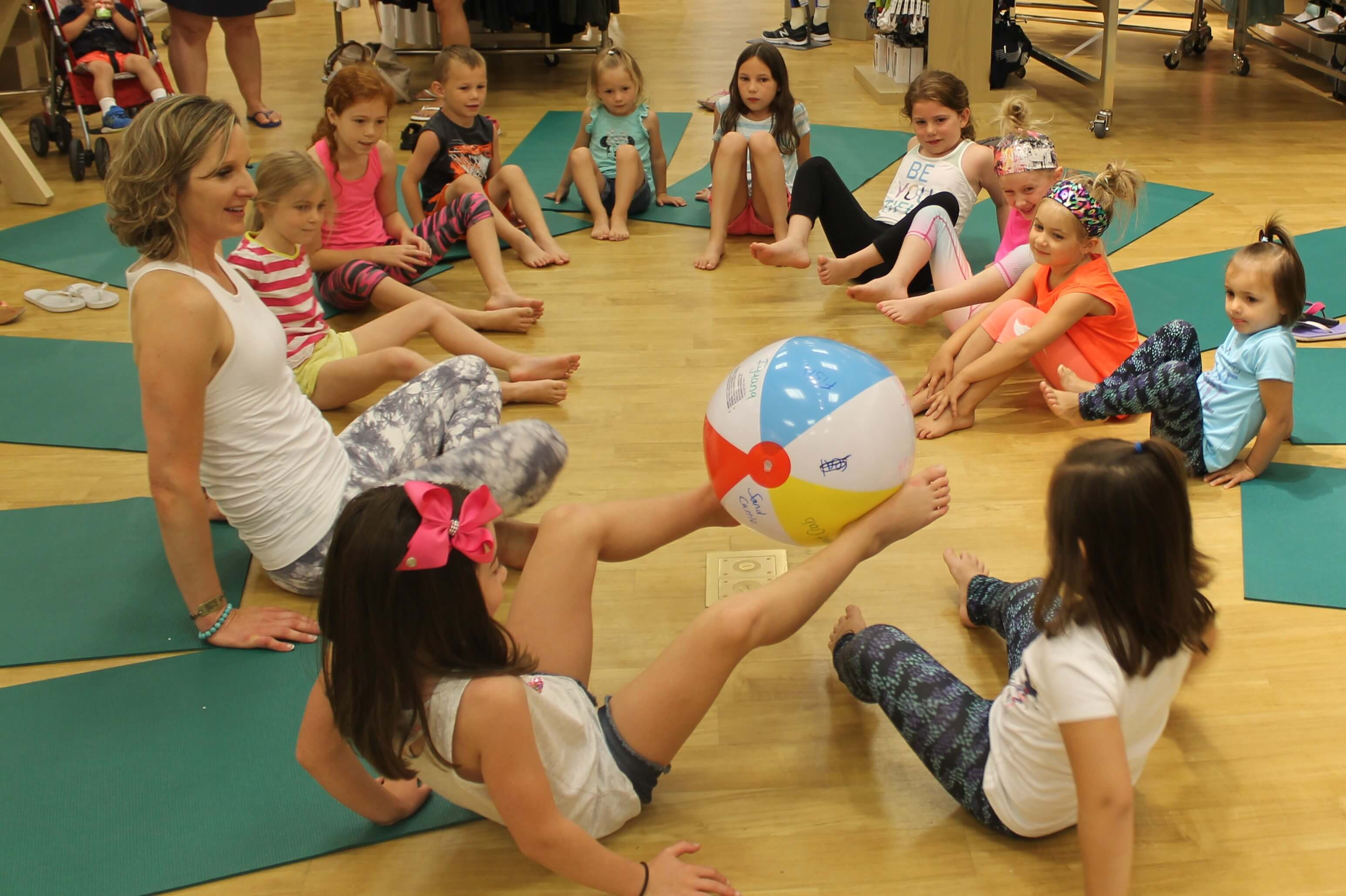 beach ball yoga