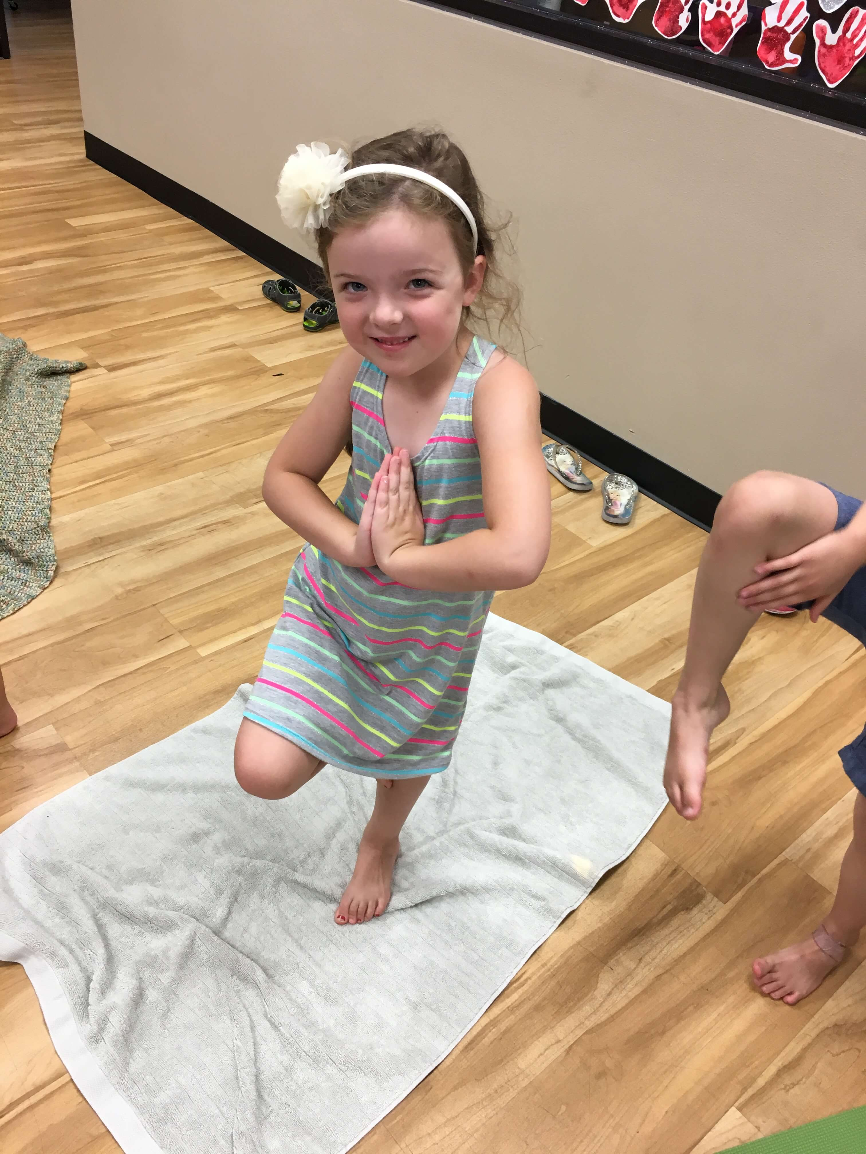 Our Kids Yoga & Mindfulness Teacher Training online course will walk you exactly how to do yoga for preschoolers in the school, home, or other activities.