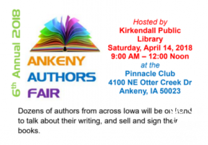 Join Go Go Yoga for Kids and many other authors at the Ankeny Authors Fair on April 14th at the Pinnacle Club. Stop and say hi, spin our Yoga Pose Wheel and check our newly released and best seller Go Go Yoga for Kids: Yoga Lessons for Children and the Kids Yoga Challenge Pose Cards.