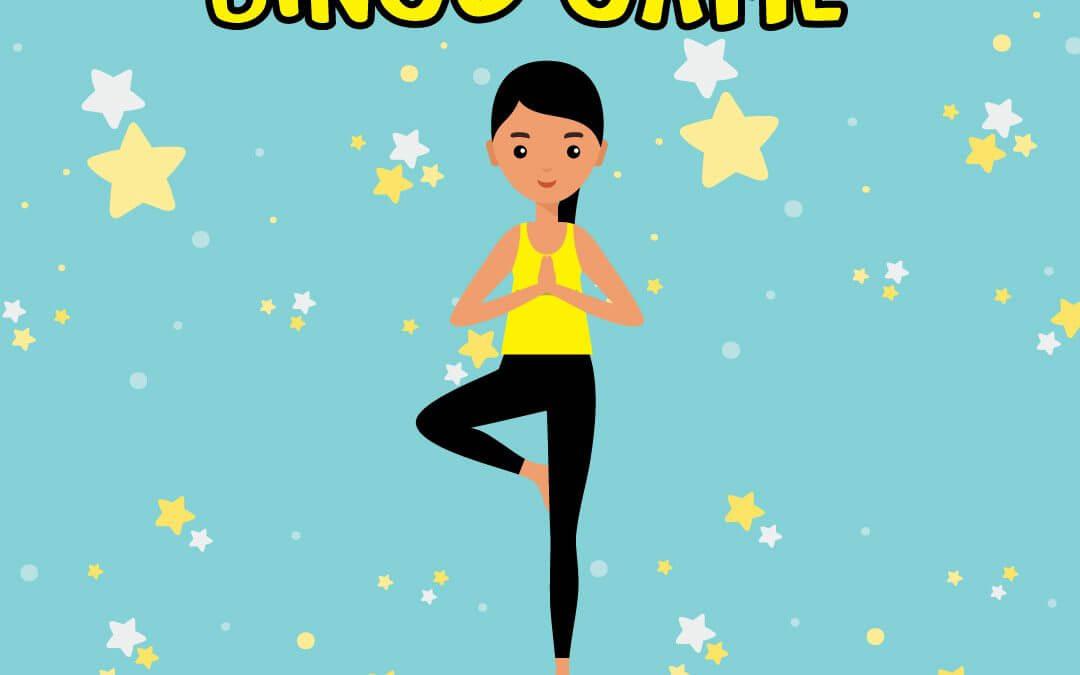 yoga pose bingo game