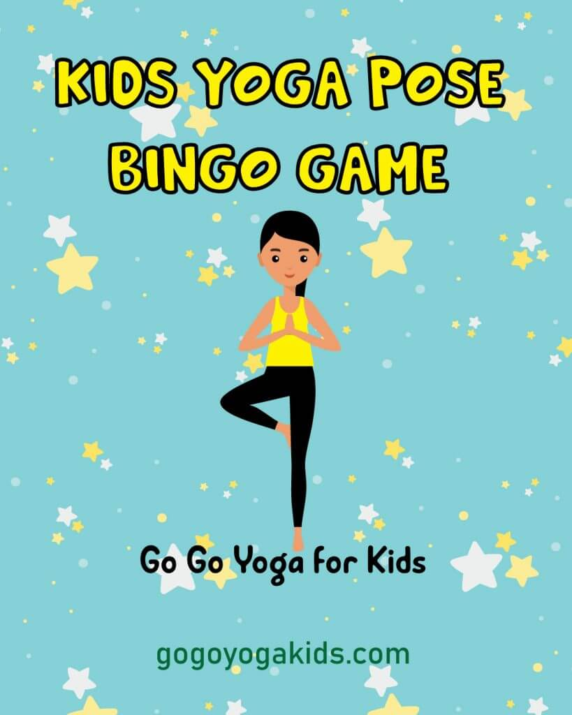 yoga pose bingo game