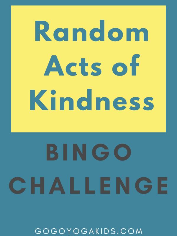 random acts of kindness Bingo Challenge