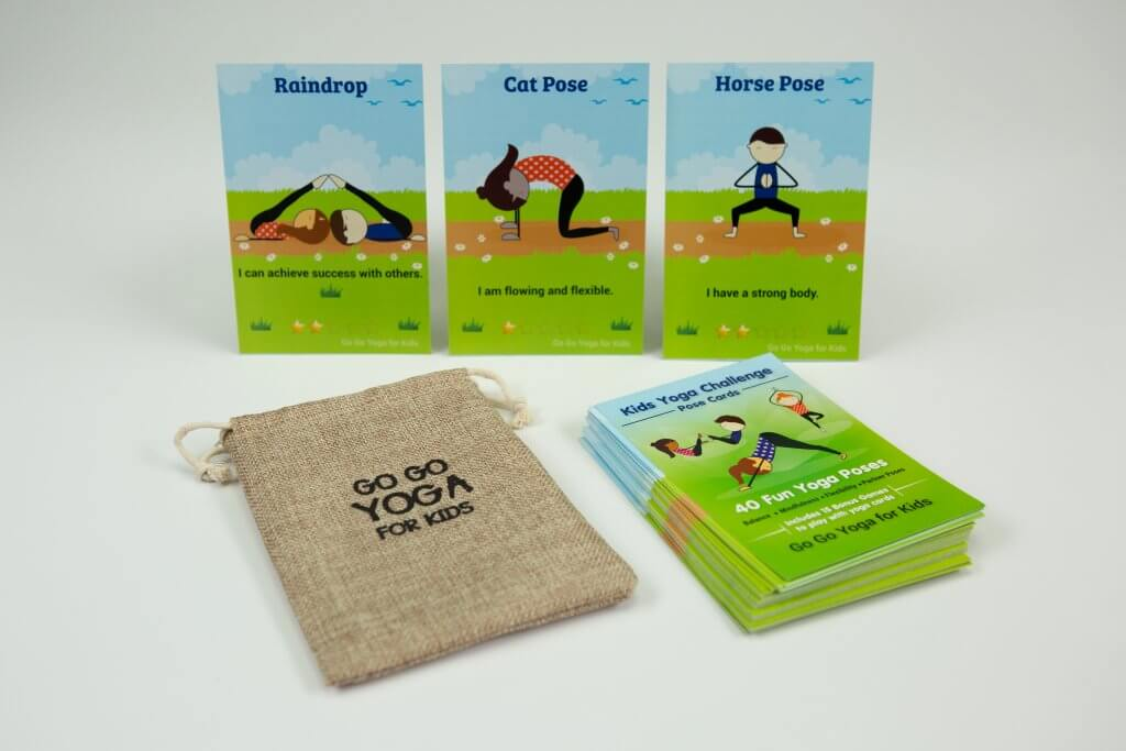 kids yoga challenge pose cards