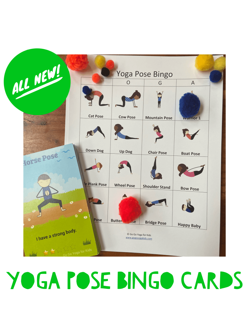kids yoga pose bingo cards