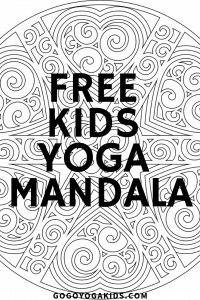 Happy Spring from Go Go Yoga for Kids! Get your free  Spring Mandala. Mandalas are a fun coloring activity for all ages and build mindfulness