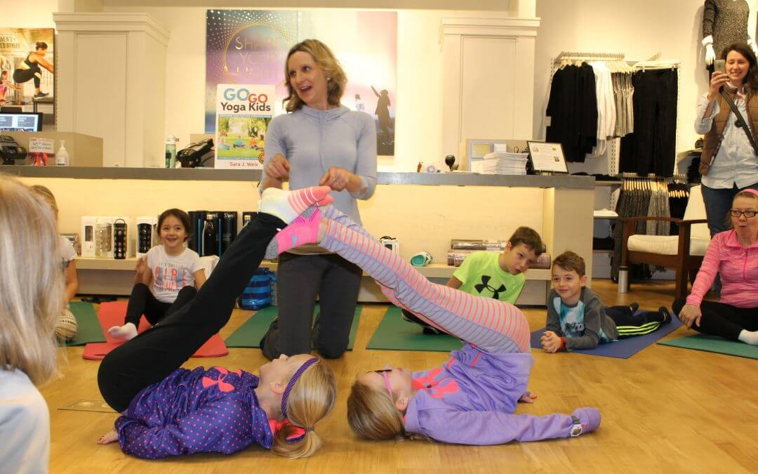 Winter Yoga Class With Kids
