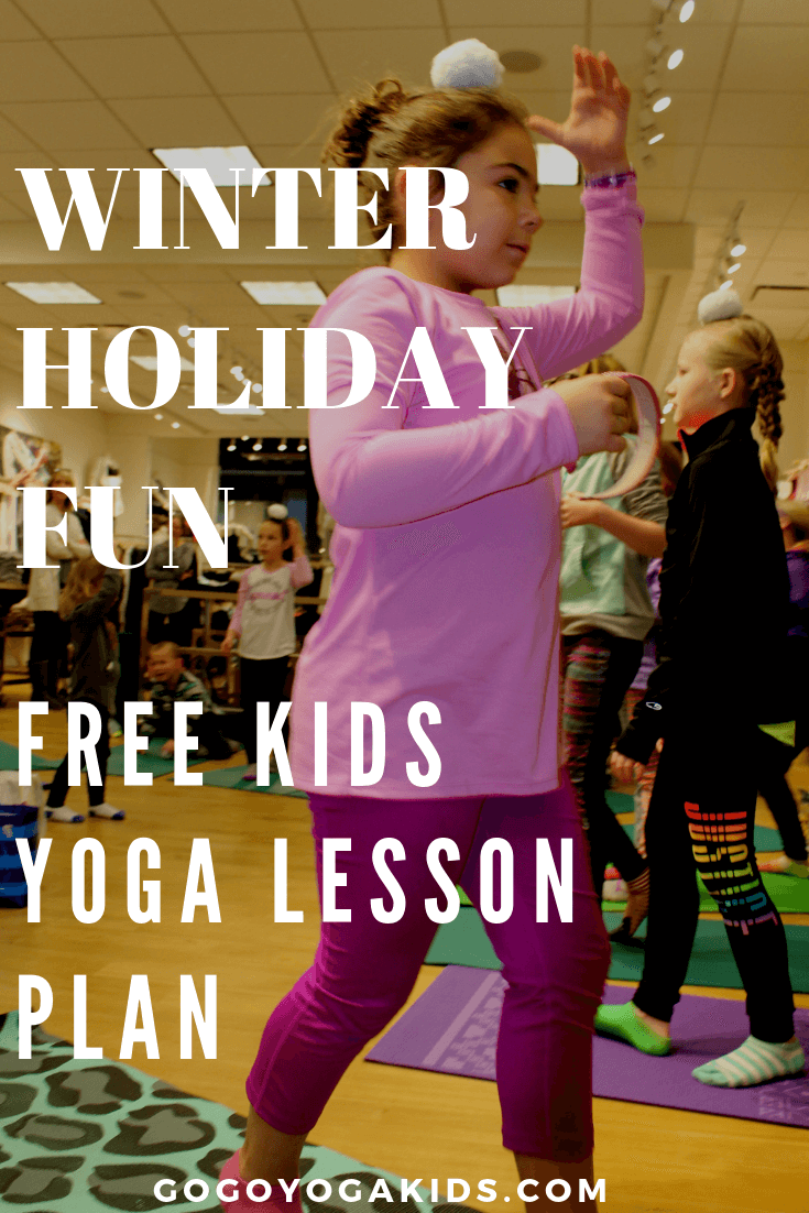 Kids Yoga Snowga Class With Snowballs And Poses Go Go Yoga