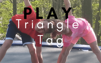Yoga Triangle Tag: Yoga Games for Kids