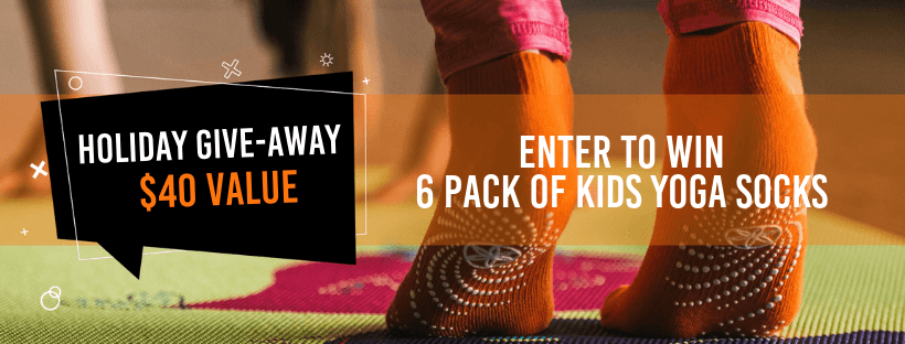 Enter to Win a 6 Pack of Kids Yoga Socks!